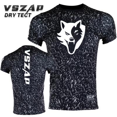 VSZAP NOISE Compression T-Shirts MMA Rashguard Short Sleeves Quick Dry Base Mens