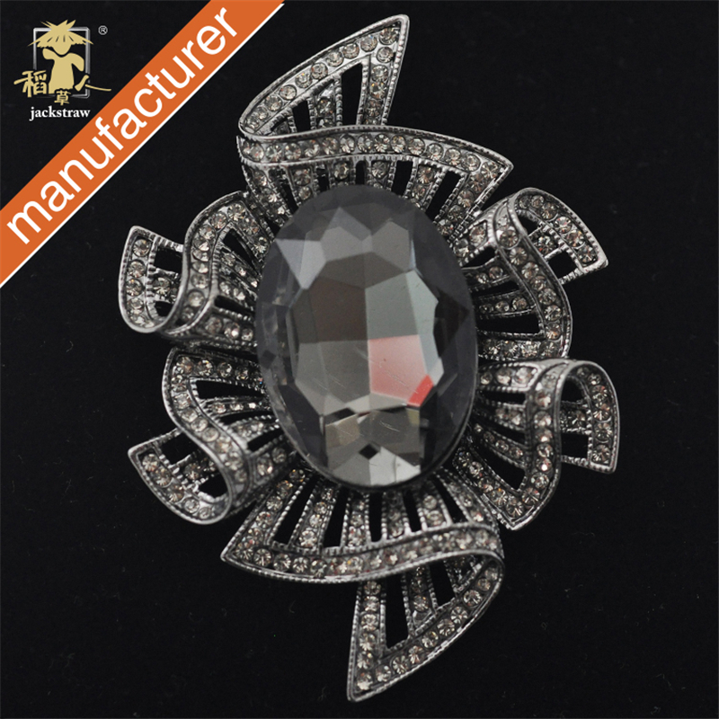 2018 cnjackstraw new fashion big Կանանց rhinestone Royal Crystal Brooch Wedding Elegant Prom Party Gift Jewelry