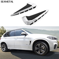 For BMW X5 F15 2014 2015 2016 Logo Cars Side Air Flow Fender Cover Trim 3D Sticker Decoration Auto Accessories Car Styling Man
