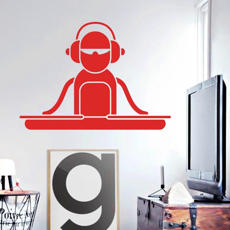 Art design home decoration vinyl cartoon dj decks wall for House music vinyl