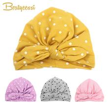Sweet dot Baby Girl Hat z Bow Candy Color Baby Turban Cap dla dziewczyn elastyczne akcesoria dla niemowląt 1 PC tanie tanio Dziecko 0-3 months 13-18 months 19-24 months 4-6 months 7-9 months 10-12 months MS7841 Baby Girls Zamontowane Bratyeessi