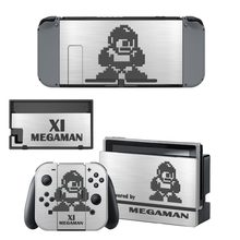Game Mega Man Decal Vinyl Skin Sticker for Nintendo Switch NS Console + Controller + Stand Holder Protective Film(China)