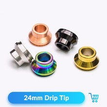 Quartz Banger 24mm Drip Tip Wide Mouthpiece Kupcake Summit Metal Drip Tip for 24mm RDA RDTA Atomizer Vaporizer E Cigarette