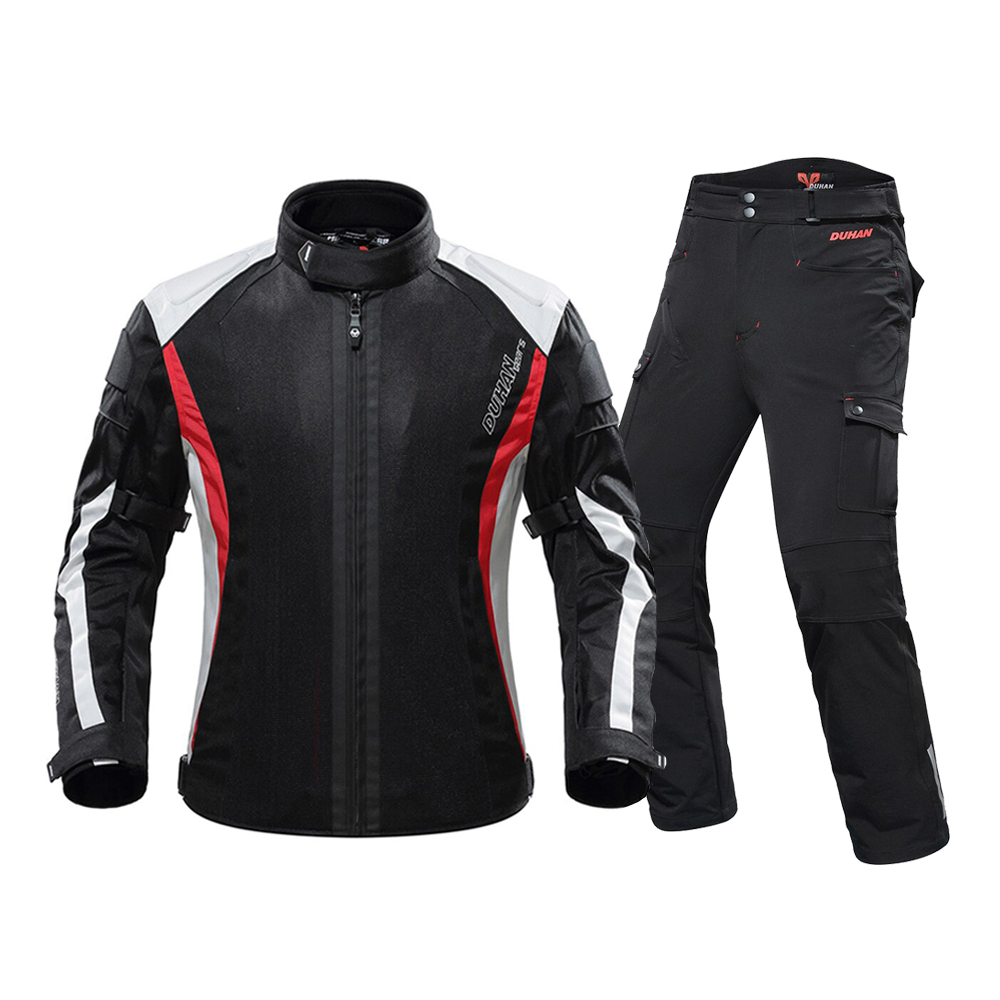 DUHAN Motorcycle Jacket Men Chaqueta Moto Breathable Body Armor Motorcycle Pants jaqueta Moto Suit Riding Jacket for SummerDUHAN Motorcycle Jacket Men Chaqueta Moto Breathable Body Armor Motorcycle Pants jaqueta Moto Suit Riding Jacket for Summer