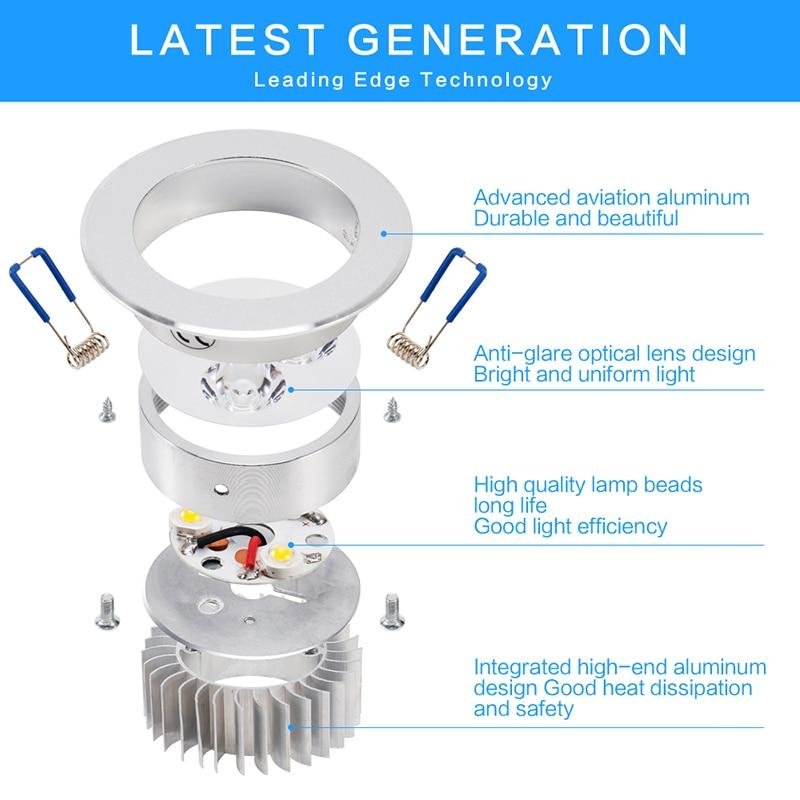 9W Led Downlight Empotrable Led Ceiling Lamp Faretto Incasso Lampara Techo Plafoniera Spot light Recessed 110V 220V Lamp zk70