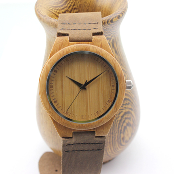 BOBO BIRD Unique Lover Natural Bamboo Wood Casual Quartz Watches Classic Style With Real Leather Strap In Gift Box 1