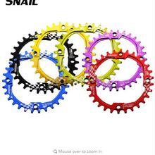 Велосипедная кривошипа с улиткой, 30 т, велосипедная цепь 104BCD, круглая, узкая, широкая, Ультралегкая, 7075-T6, MTB, велосипедная цепь, круг, шатунная пластина