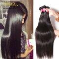 Pelo Virginal peruano Recto 3 Unids Mucho Peruana Straight Hair Bundles 100% Sin Procesar Armadura Del Pelo Humano Peruano Nadula Pelo