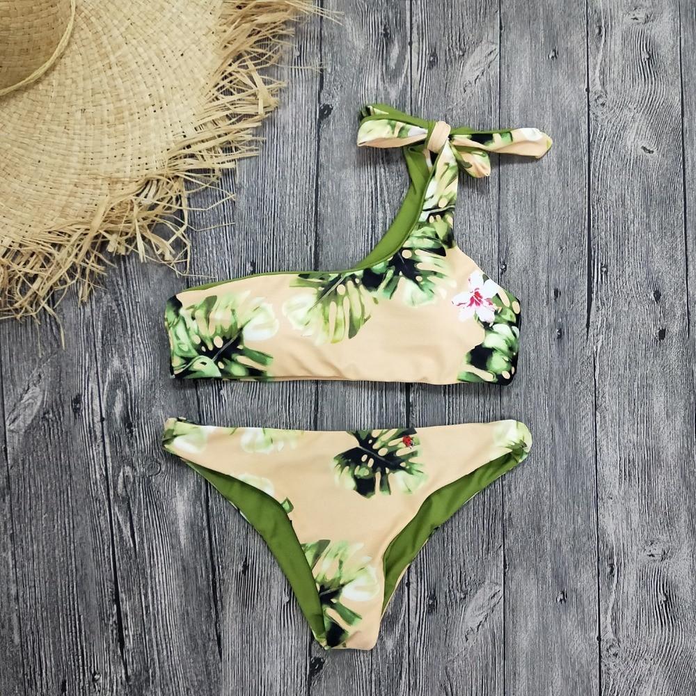 HTB1sk zSr2pK1RjSZFsq6yNlXXaR Bikini Women Swimwear Push Up Swimsuit One Shoulder Print Brazilian Bikini Set 2019 Biquini Bathing Suit Beach Swimming Suit