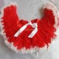 free shipping 2014 baby girls tulle red tutu pettiskirt kids fluffy christmas pettiskirt
