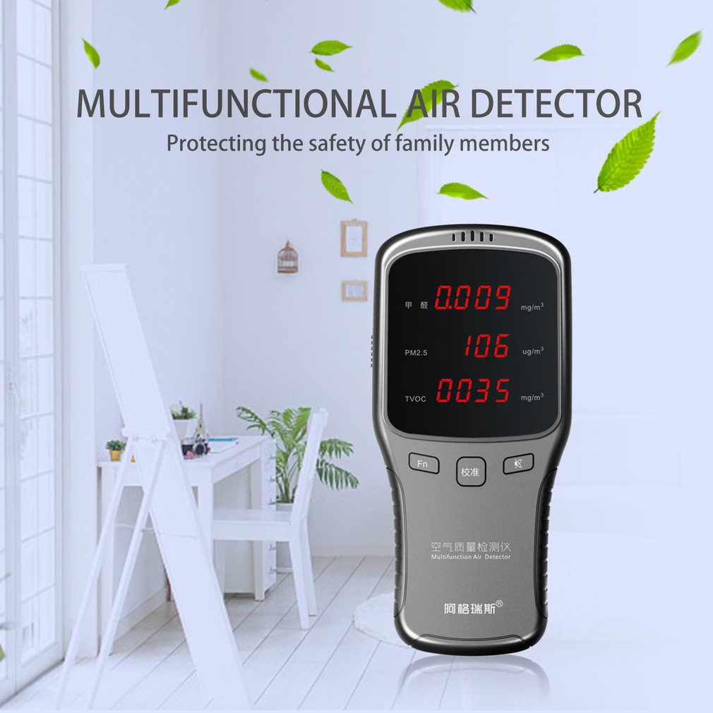 Formaldehyde Detector Detects PM2.5 Real Time Testing Record Analyzed USB Charging Monitor Air Quality for HomeFormaldehyde Detector Detects PM2.5 Real Time Testing Record Analyzed USB Charging Monitor Air Quality for Home