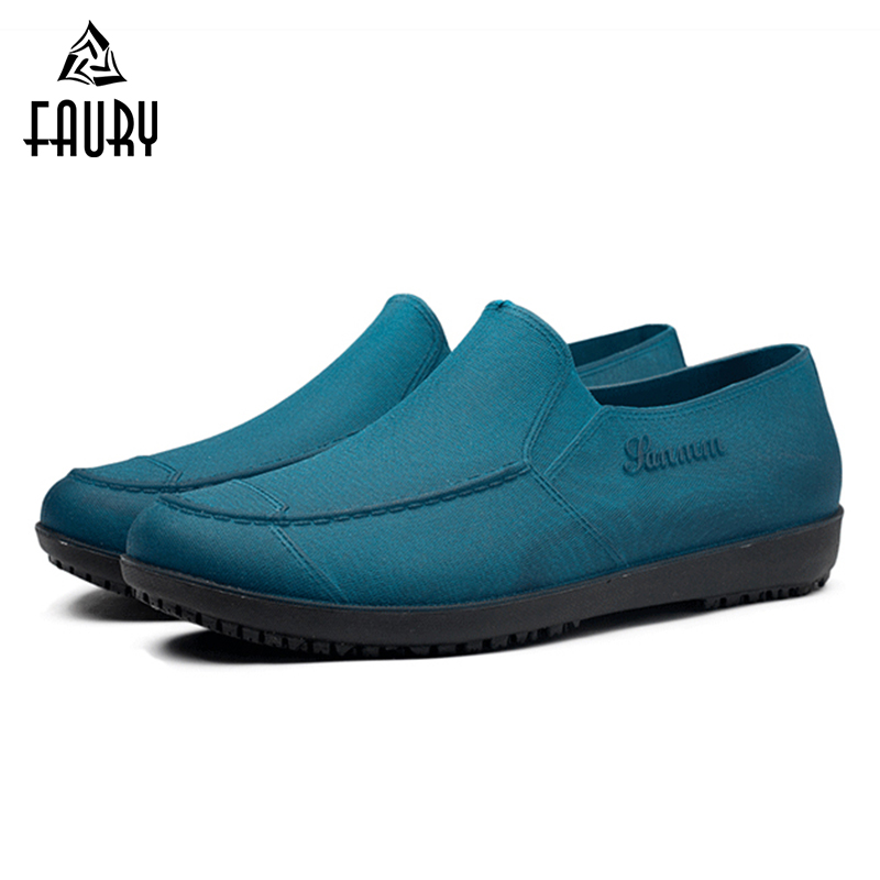 2018 Men's Restaurant Catering Kitchen Work Shoes Non-Slip Anti-oil Hotel Canteen Cozinha Chef Cooking Waterproof Shoes