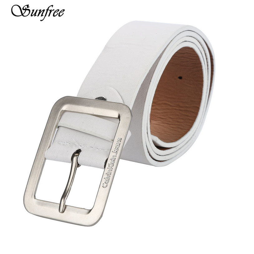 Sunfree 2016 Hot Sale Fashion Mens Casual Faux Leather Belt Buckle Waist Strap Belts Brand New and High Quality Nov 22