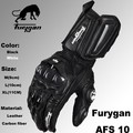 Super affordable Furygan afs10 motorcycle Riding leather gloves road racing gloves cycling full finger  leather gloves black