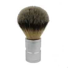 Электрическая 1 шт. Мужская щетка для бритья волос из нержавеющей стали с металлической ручкой, мягкая синтетическая нейлоновая Парикмахерская щетка, удобный инструмент для бритья