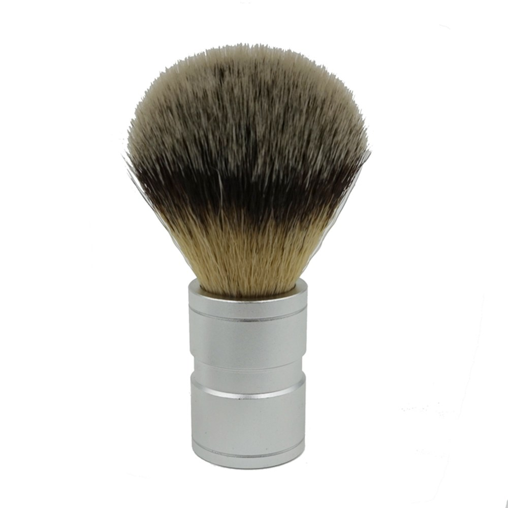 New Mens Hair Shaving Brush Stainless Metal Handle Synthetic hair Barber Comfortable Shave Tool