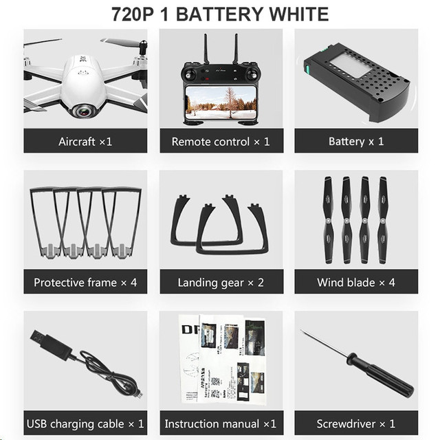 720P 1 Battery White