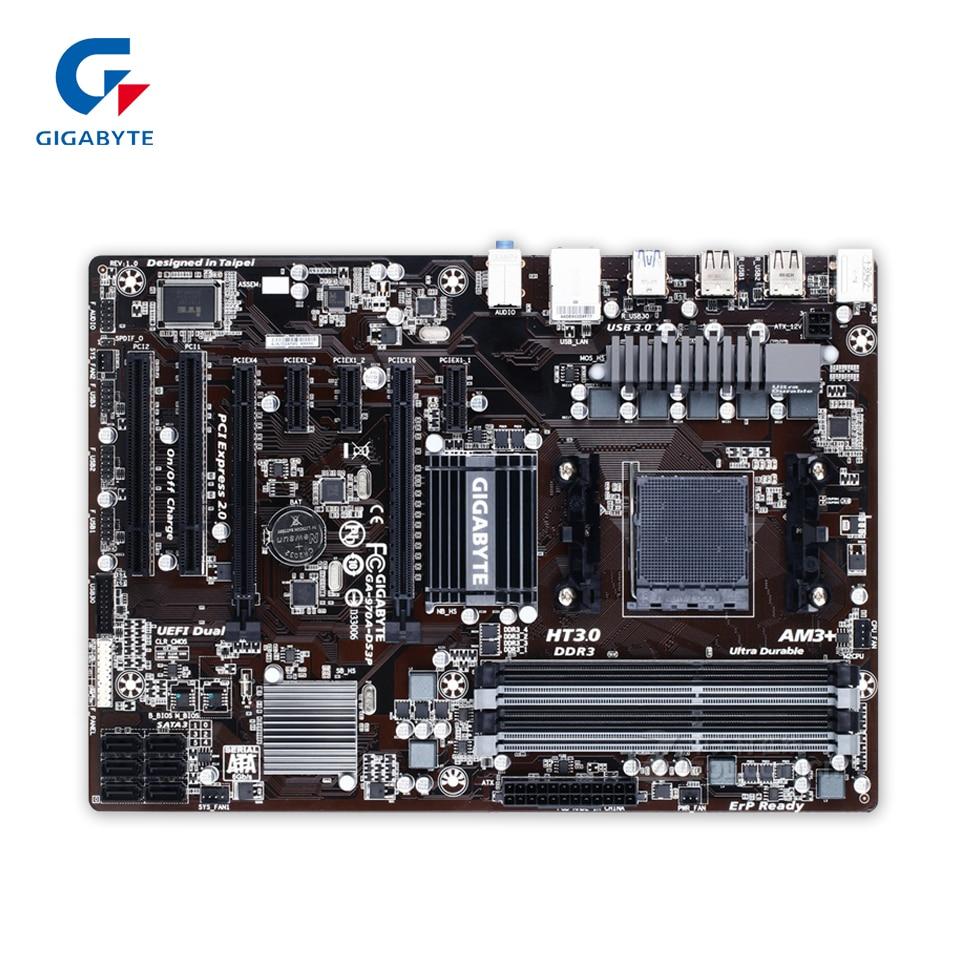 Gigabyte GA-970A-DS3P Original Used Desktop Motherboard 970A-DS3P 970 Socket AM3 DDR3 SATA3 USB3.0 ATX  gigabyte ga 870a usb3 original used desktop motherboard amd 870 socket am3 ddr3 sata3 usb3 0 atx