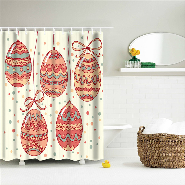 Flower Print European Shower Curtain Pattern Bath Screens Polyester Waterproof YouTube Curtains In The