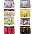 JINSHI Men's Boxers Short Knickers Print Men's Underwear Men Boxers Sexy Brand Penis Pouch U Convex Man Underpants Waist Shorts