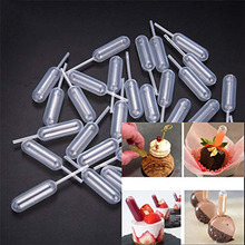 50 шт. 4 мл пластиковые пипетки кексы заварочные трубки для мороженого желе молочный Шейк соломы капельницы одноразовые кухонные принадлежности для выпечки