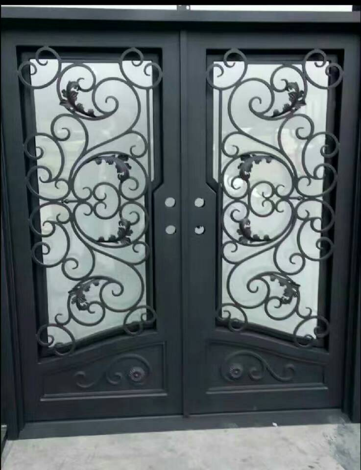 Wholesale Wrought Iron Doors Iron Double Doors Iron Doors Iron Front Doors For Sale  Hc10