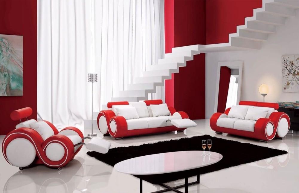 Red Leather Sofa Set Designs Genuine