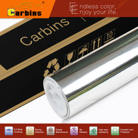Oi cromo flexível! prata chrome espelho vinil envoltório carro filme adesivo com cola de importação e elástico, 160g de papel com canais