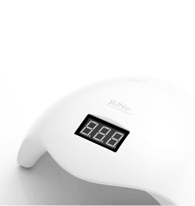 Fast Dry 48W UV Lamp LED Nail Lamp Nail Dryer Half Round Shaped Long Life LED