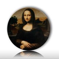 Famosa Da Vinci pittura a olio piatto decorativo creativo Mona Lisa ceramica artigianale hotel/camera da parete/scrivania decorazione amico regalo