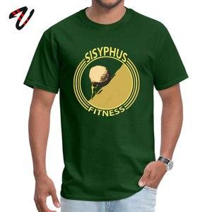 Sisyphus Fitness gelb T Shirt für Männer Deutschland sierte Sommer/Herbst Tees Kurzarm Hip Hop Comics T-shirts Reine baumwolle