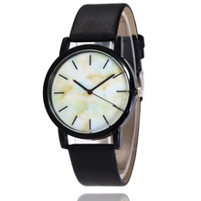 Geneva Watches Men Women Top Brand Luxury Quartz Watch marble Dial Clock Leather Round Casual Wrist watch Relogio masculino geneva women watch analog with diamonds rose round dial leather watch band