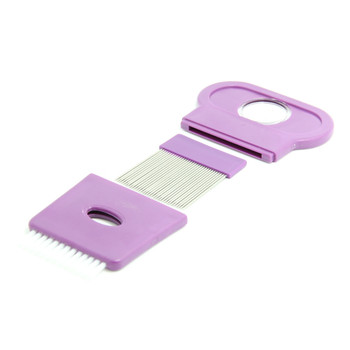 12PCS wholesale in stock 3 in 1 function with magnifier Needle pet flea Lice Comb Nit Free Kids Hair Rid Headlice