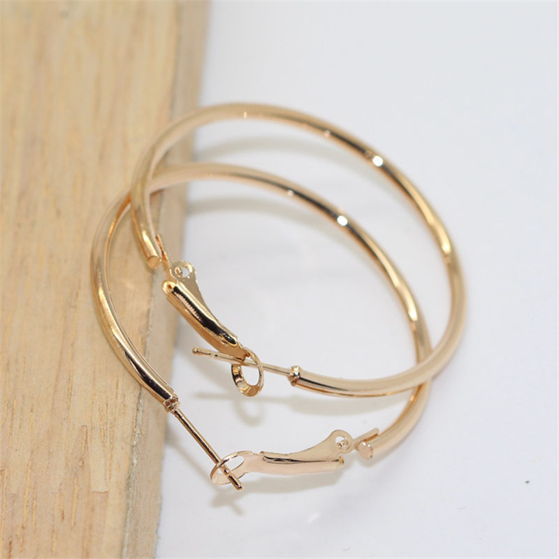 fc24a40dc Aliexpress.com : Buy LNRRABC Women Exaggerated Small Big Circle Silver  Round Earrings Party Gold Color Hoop Earring Fashion Fashion Jewelry Gift  from ...