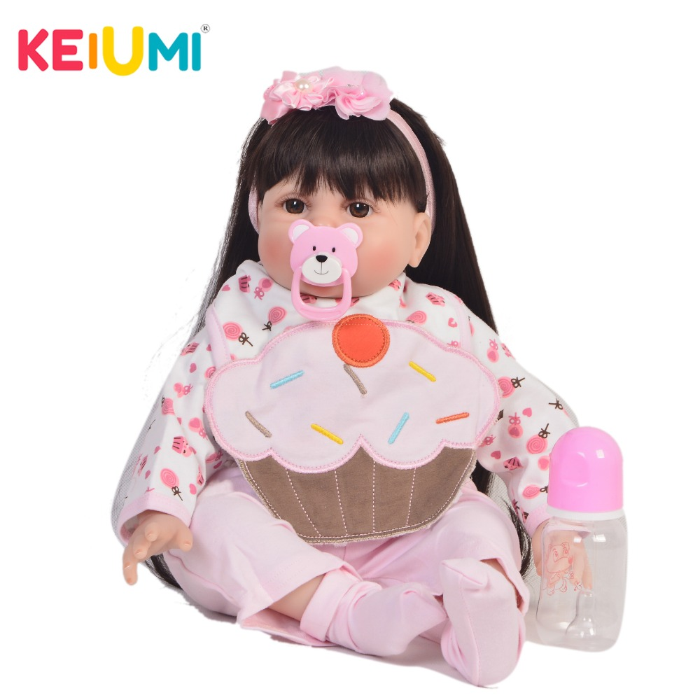 KEIUMI Princess 22 Inch Newborn Baby Doll Cloth Body Realistic Cute Baby Doll Toy For Children's Day Kid Birthday Xmas Gifts keiumi cute 22 inch reborn baby doll cloth body realistic fashion princess baby doll toy for children s day kid xmas gifts