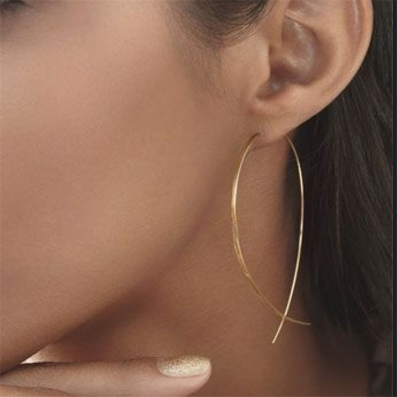 Korean Earrings European And American Fashion Simple Personality Long Earrings Women's Long Temperament Long Earrings Earrings