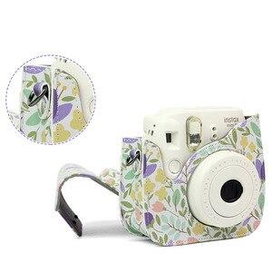 Image 5 - Schouder Camera Tas Beschermhoes Kleurrijke Bos Patronen Lederen Camera Tas Voor Fujifilm Instax Mini 8/ MINI8 +/ 9