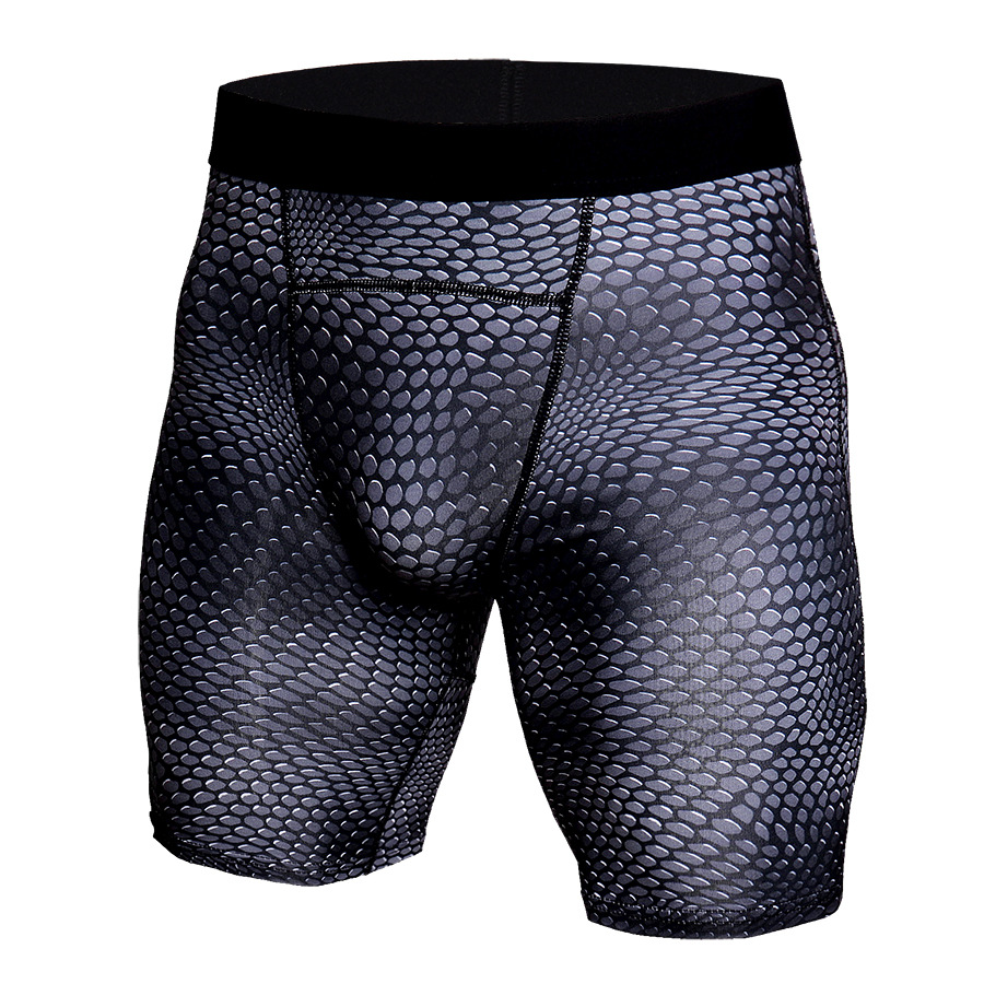 2019 MMA Compression Shorts Men Boxing Trunks Muay Thai Training 3D Print Tights Crossfit Running Jogging Dry Fit Elastic Shorts image