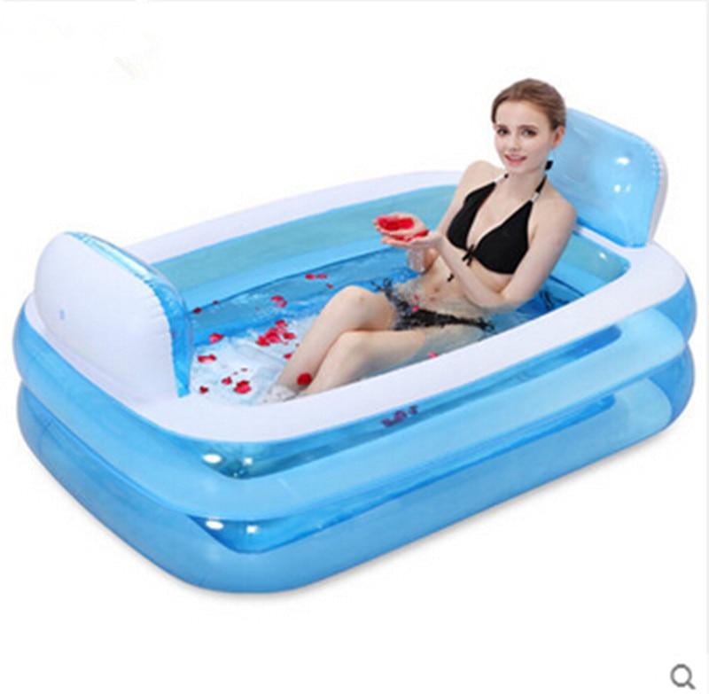 Inflatable bathtub Folding bath tub thickening Adult tub Bath tub ...