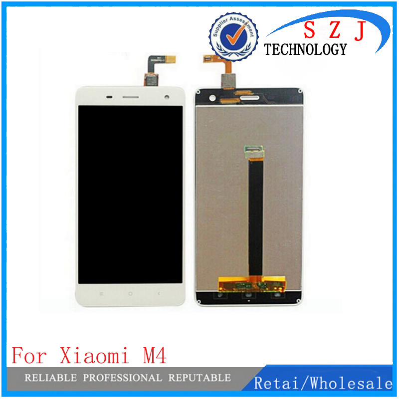 все цены на New case For Xiaomi M4 MI 4 Mi4 M 4 Mobile Phone Full LCD Display Touch Screen Digitizer Assembly Replacement Parts онлайн