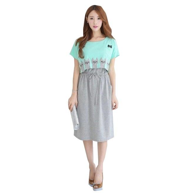 Xiyunle Long Maternity Nursing Dress Clothes Pregnant Women Breastfeeding Vestidos Clothing Pregnancy Nurse Sleepwear Dresses