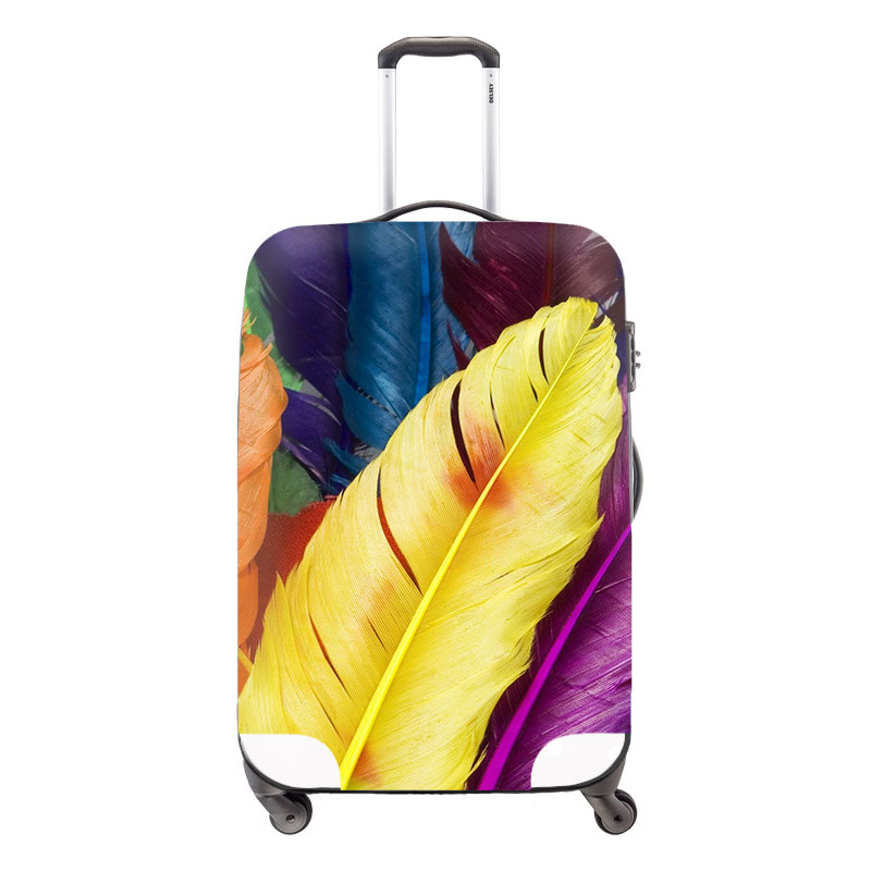 Fashion Waterproof Dustproof Rain Cover Clear Luggage Cover Travel Luggage Suitcase Cover