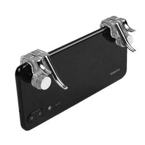 Image 2 - Sześć palec PUBG Mobile kontroler go gier gamepad wyzwalania przycisk celu L1 R1 Shooter Joystick do gier do telefonu IPhone z systemem Android