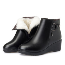 ZXRYXGS Brand Shoes Woman Warm Velvet / Wool Snow Boots Real Leather Boots 2020 New Fashion Winter Wedges High Heel Women Boots zxryxgs brand shoes woman single ankle boots 2018 new fashion warm comfort plus velvet and wool snow boots genuine leather boots