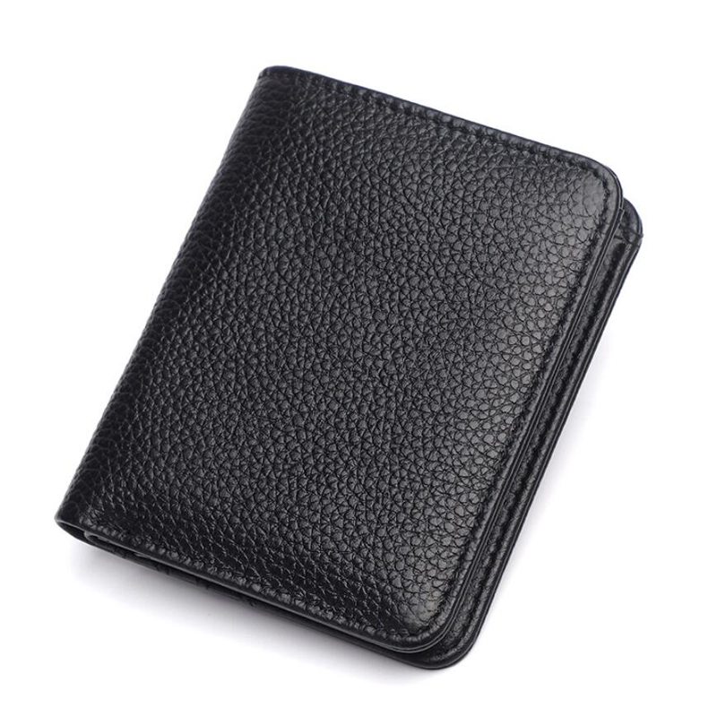 Fashion New Men's Wallet Genuine Leather Men Purse Small Wallet Short Men Card Holer Wallet Cowhide Soft Money Bag For Male