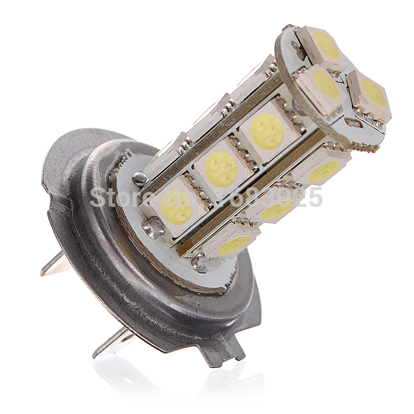 5W H7 18 SMD LED Car Auto Light Source Driving Fog Headlight Bulb Lamp DC12V  Pure White High Quality l20121211 1 h7 12w 600lm 6500k 4 smd 7060 led white light car dipped headlight dc 12v