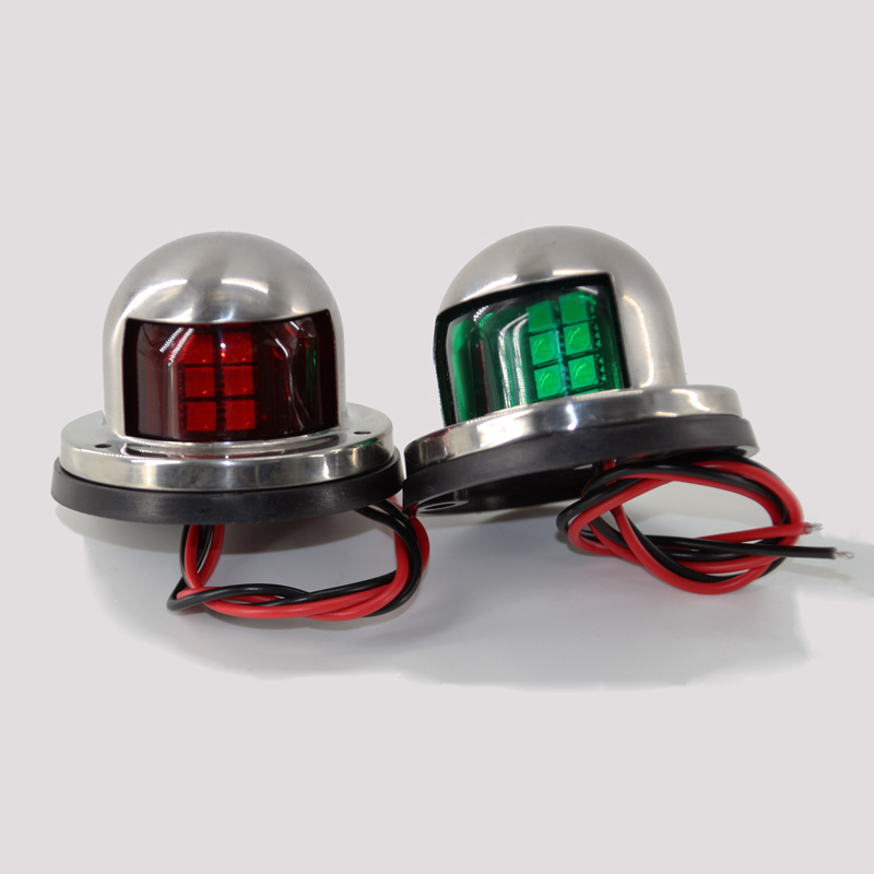 Automobiles & Motorcycles Jeazea 2pcs Dc12v 8w Green Red Marine Navigation Led Light Starboard Port Side Light For Boat Yacht Skeeter