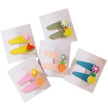 2 PCS Pineapple Watermelon Fruit Birdie BB Clips Hairpins Girls Hair Accessories Children Headwear Baby Headdress