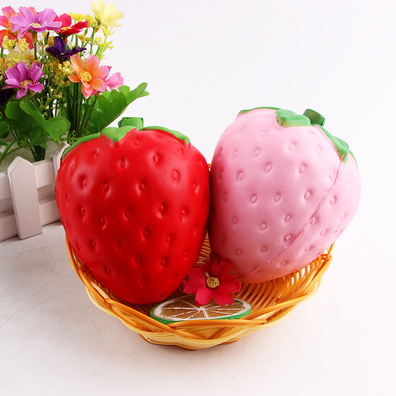 Squishy Funny Simulation fruit big strawberry Antistress Toys Squishy PU Slow Rebound Squeeze Fun Toys Gift Vent Toys Squishies
