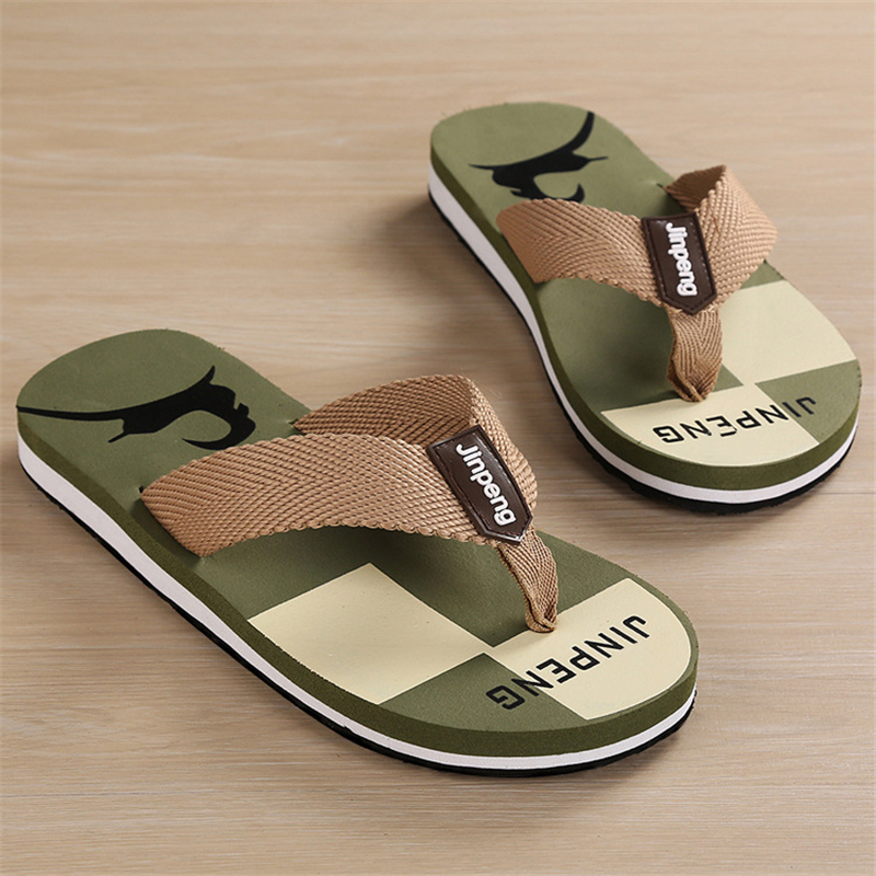 ENPLEI flip-flops mannelijke koele nieuwe antislip strand slippers mode vrije tijd zomer visgraat slippers mannen